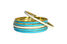 Pre-Owned Pretty Medal Bangles Set of 6