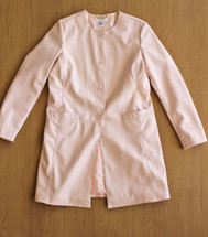 Pre-owned Calvin Klein faux leather Coat Pink Mid Length (S)