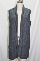 Tahari 100% Extrafine Merino Wool Sweater Vest Charcoal (S)