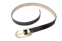 Streets Ahead Brown Leather Oval Buckle Belt Style: 12677 USA Made