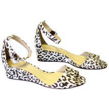 J CREW LAILA WEDGES IN LEOPARD PRINT