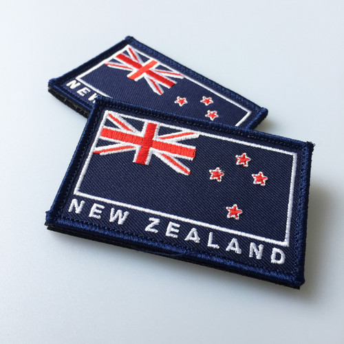 New Zealand Flag Patch Velcro Back