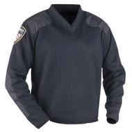 Blauer V-Neck Sweater w/Fleece BR-225 - front