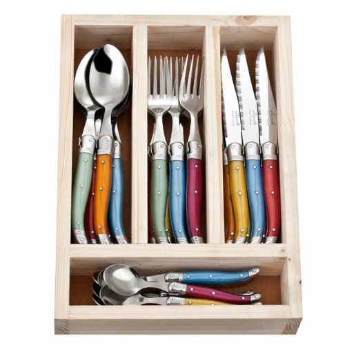 Laguiole 24 Piece Cutlery Set by Jean Neron - Mixed Colour