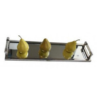 Long Mirror Tray with Acetate Handles - great table centre display piece or serving tray