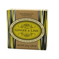 Naturally European Luxury Soap - Ginger and Lime 150g
