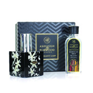 Ashleigh and Burwood -  Midnight Collection Silver Jasmine and Moroccan Spice Lamp Gift Set
