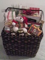 Santa Bear Gift Basket