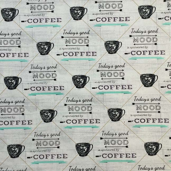 Coffee themed pattern for your Corn Heating Pad (Corn Bag Warmer)