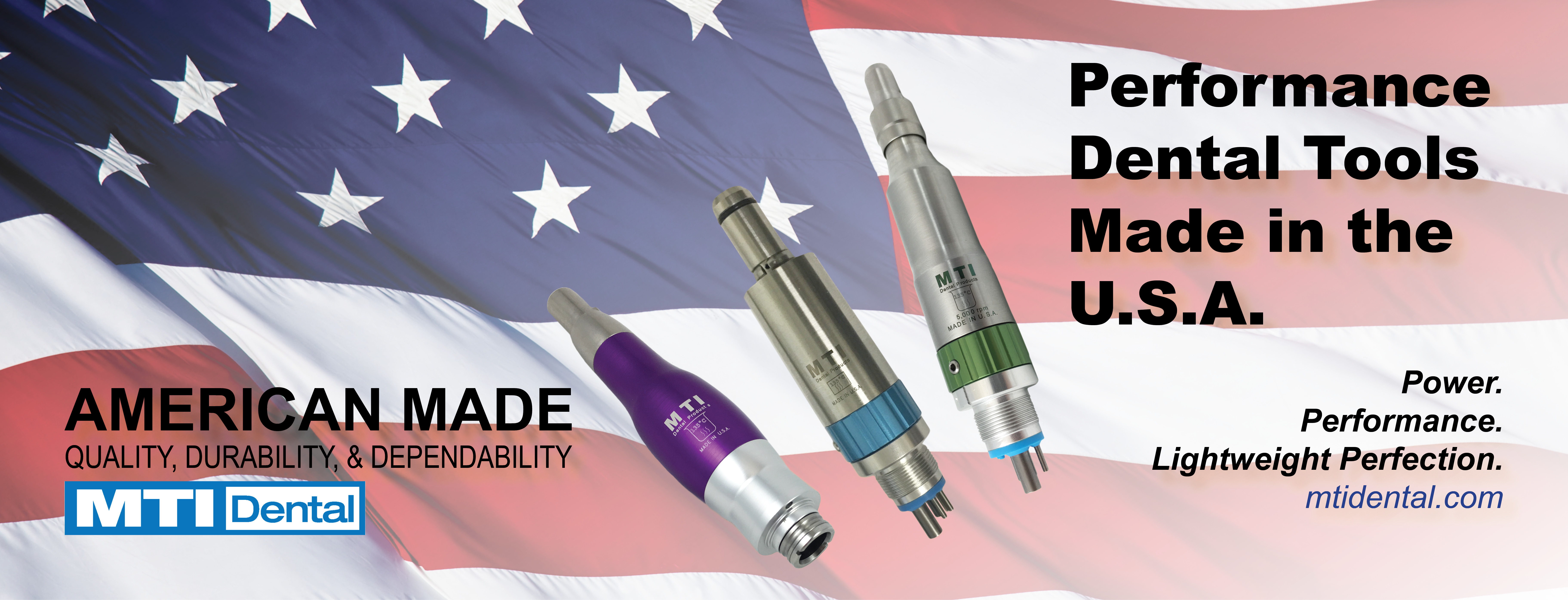 MTI Dental. An American Manufacturer of Precision Dental Tools and Accessories for 39 Years.