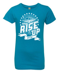 Rise Up 1776 - Girls distressed graphic tee