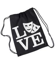 Love theatre canvas drawstring rehearsal bag.