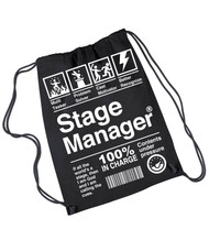 Stag Manager drawstring backpack rehearsal bag