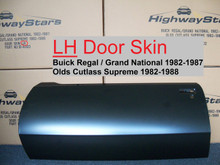 Highest quality Door skin for 1982 - 1987 Buick Grand National or 1982 1988 Cutlass developed by Highway Stars