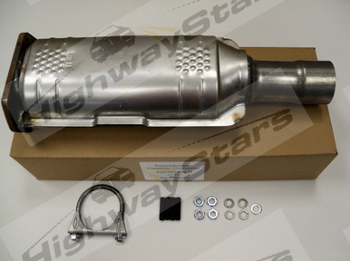 Reproduction Catalytic Converter #25103338 R  for Stock 1986-1987 Buick Grand National Turbo Regal developed & sold only through HIGHWAY STARS