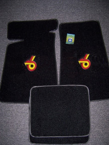 GM licensed floor mats with Turbo 6 logo sold through Highway Stars