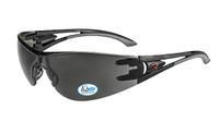 Optima IQ anti-fog safety glasses with smoke lens.