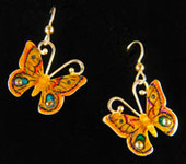 Polyphemus Moth Earrings