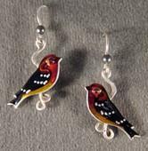 Blackburnian Warbler Earrings
