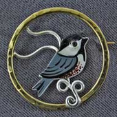 Chickadee Pin