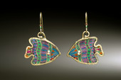Bioluminescent Fish Earrings