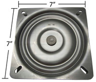 "Replacement Bar Stool Swivel Plate - 7"" Square - Flat Profile - S4697"