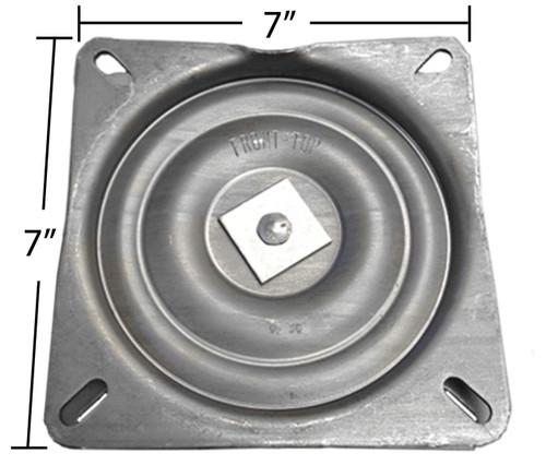 """Replacement Bar Stool Swivel - 7"""" Square - Pitched / Angled Profile - S4696"""