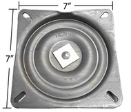 "Replacement Bar Stool Swivel - 7"" Square - Pitched / Angled Profile - S4696"