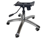 Chrome Chair Base Kit with Metal Base, Casters, Gas Lift, & Tilt Mechanism