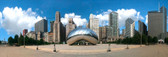 Chicago Cloud Gate (Millennium Park) Panoramic