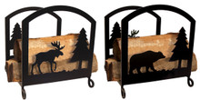 Moose and Bear Wood Rack