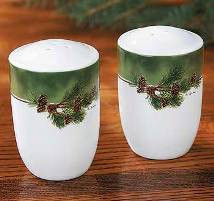 Pine Branch Salt & Pepper Shakers