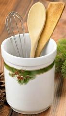 Pine Branch Utensil Holder