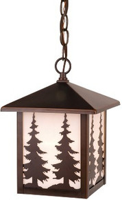 Yosemite Pine Tree Hanging Outdoor Light