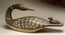 Loon and Chick Decoy