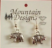 Bear Earrings Drop Style