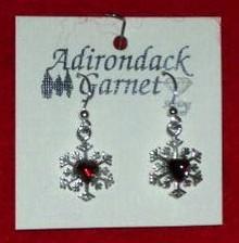 Garnet Snowflake Earrings