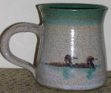 Hand Painted Loon Mug