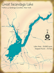 Great Sacandaga Lake Map