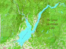 Great Sacandaga Lake Canvas Map