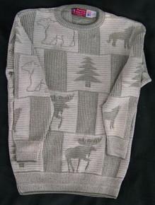 Multi-Panel Bear and Moose Sweater - ON SALE!