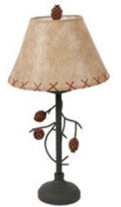 Pine Cone and Branch Table Lamp