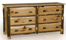 Hickory and Oak 6 drawer dresser