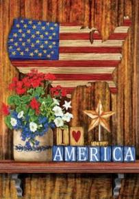 I Love America Flag