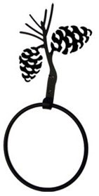 Black Wrought iron towel ring