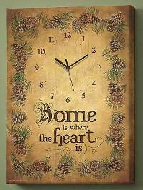 """Home is Where the Heart is""  clock"