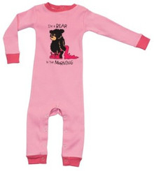 Bear in the Morning Girl's Union Suit
