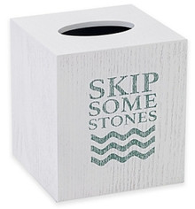 Lake Words Tissue Box cover