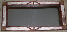"Birch Bark Mirror, 13"" x 27.5"""
