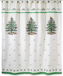 Spode Christmas Tree Shower Curtain On Sale!